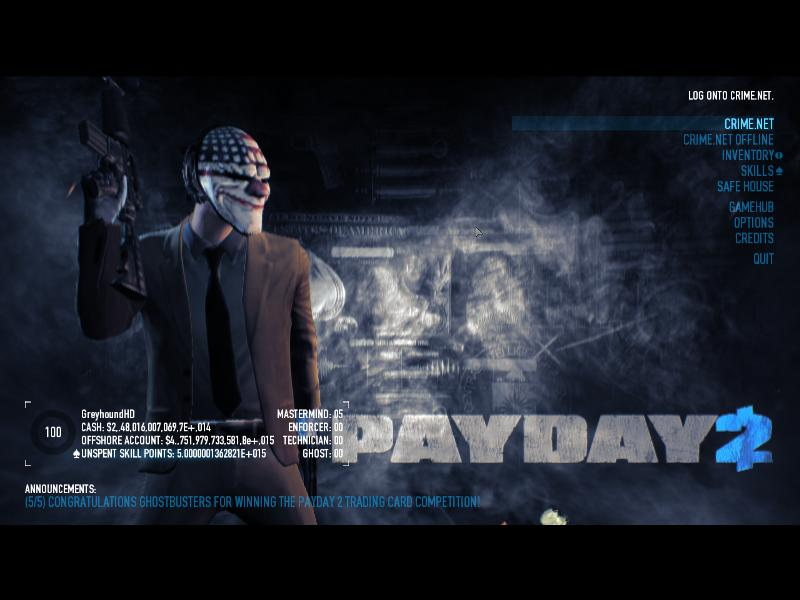 Payday 2 cheat engine table download
