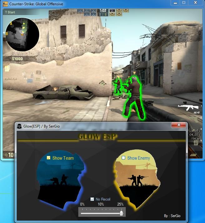 GLOW [ESP] + NoRecoil - Downloads - OldSchoolHack - Game