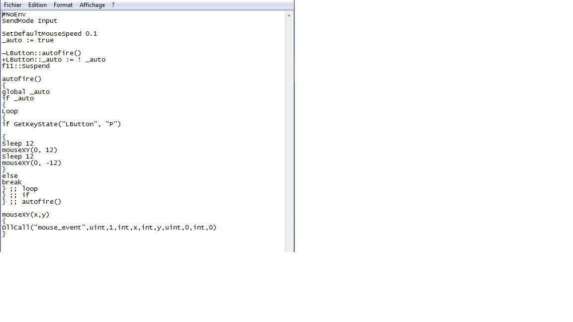 No recoil AutoHotkey Script - Downloads - OldSchoolHack - Game Hacks